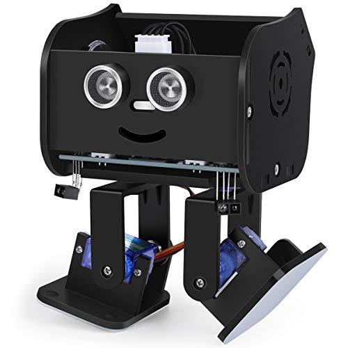 ELEGOO Penguin BOT Robot Biped Compatible con Arduino IDE Proyecto con Tutorial de Ensamblaje, Kit Stem para Aficionados, Juguetes Stem para Niños y Adultos Versión 2.0 Negro