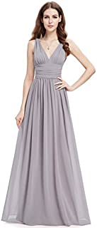 Ever-Pretty Sleeveless V-Neck Semi-Formal Maxi Evening...