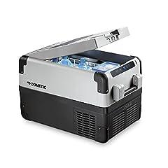DOMETIC CoolFreeze CFX 35W, elektryczna chłodnica/zamrażarka sprężarki, 32 litry, 12/24 V i 230 V dla samochodu, ciężarówki, gniazdka elektrycznego, z wi-fi + usb, klasa energetyczna A++