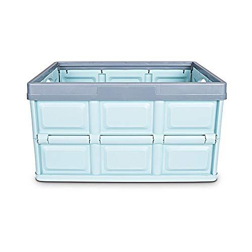 Mr.T Dekorative Lagerung Box- Robuste, Groß, faltbar, stapelbar Seal mit Griff, Simple Storage Fach mit Deckel - Haushalt Aufbewahrungsbox (Color : Blue)