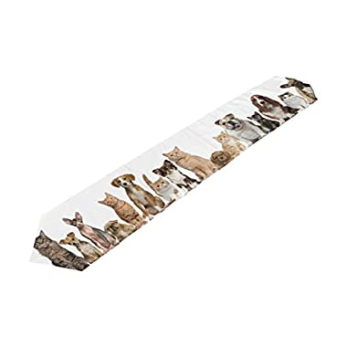 My Daily Funny Dog Cat Pet Collection Table Runner 13 x 70 inch Polyester Table Top Decoration Home Decor