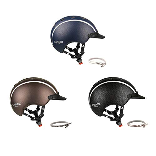 Casco Kinder Reithelm Choice schwarz metallic Swarovski Edition schwarz-Chrome S (52-56cm)