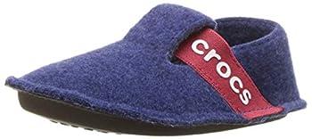 Crocs Kids  Classic Slipper | Fuzzy Slippers Cerulean Blue 11 Little Kid