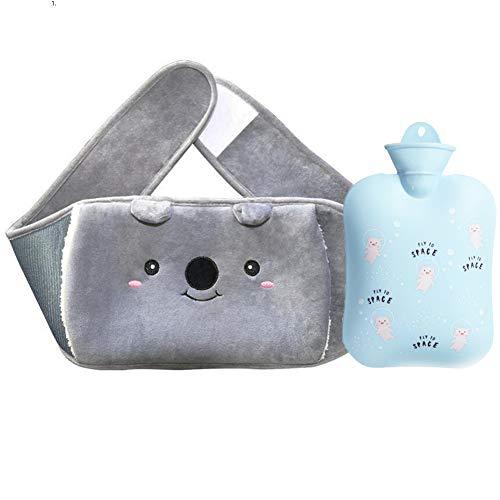 Nifogo Bolsa de Agua Caliente, 1300ML Bolsa de Agua Caliente, con Funda Hot Water Bag Bottle Goma Natural, Peluche Super Suave Diseño(1.3L)