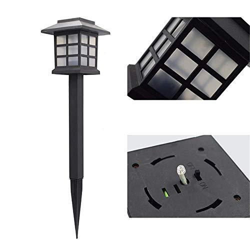 4er Pack regendicht Solar Outdoor LED Rasen Lichter kleine Haus Lichter Mini Solar Lichter Palast Lichter Garten Lichter bunt