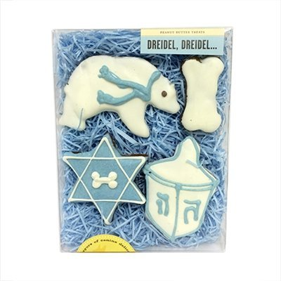 Bubba Rose Dreidel, Dreidel Box Holiday Dog Treats
