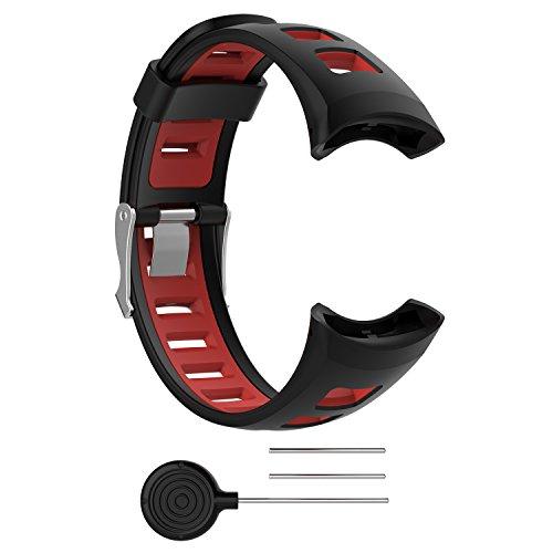BoLuo Cinturini per Suunto M5,Cintura Ricambio,Sostitutivo per Cinturino Fitness Sportivo Cinturino Strap Armband per Suunto Quest/Suunto M1/Suunto M2/Suunto M3 /Suunto M4/Suunto M5 Watch (nero)
