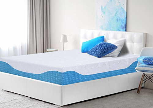 PrimaSleep 10 Inch Multi-Layered I-Gel Infused Memory Foam Mattress, Queen