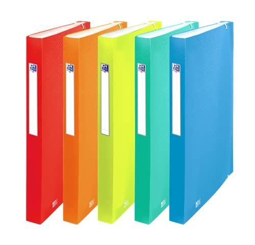 Oxford FolderSys - Carpeta archivadora (A4, 8 compartimentos, plástico, 5 colores, 10 unidades)