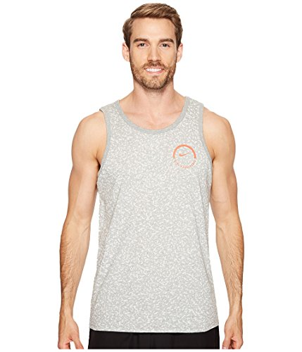 Nike Mens Jersey Printed Tank Top Gray S