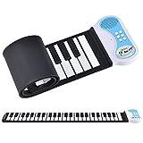 [in.tec] Rollpiano E-Piano - mit 49 Tasten Keyboard Kinder Klavier Rollbar Silikon Roll Up Piano