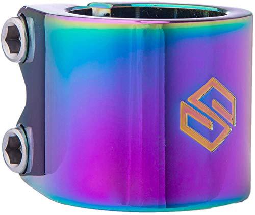 Striker Lux Double Stunt Scooter Clamp - Pinza para patinete, multicolor neocromo