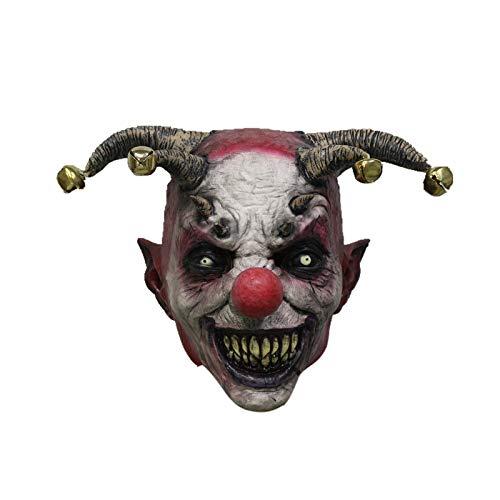 Halloween Clown Kostüm Jingle Bell Latex Maske