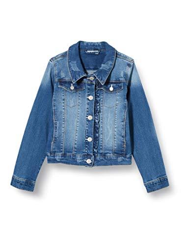 NAME IT Mädchen NKFTEGANI DNM 2278 Jacket NOOS Jeansjacke, Medium Blue Denim, 140