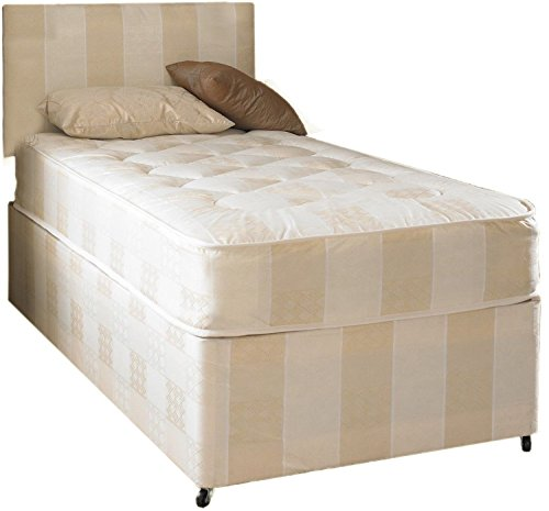 Deep Quilt Divan Bed Including Deep Quilt Mattress And Headboard (Available in 2'6 Small Single - 3'0 Single - 3'6 Large Single - 4'0 Small Double - 4'6 Double - 5'0 KingSize) (3x6'3 Single)