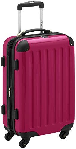 HAUPTSTADTKOFFER - Alex - Handgepäck Hartschalen-Koffer Trolley Rollkoffer Reisekoffer Erweiterbar, 4 Rollen, TSA, 55 cm, 42 Liter, Magenta
