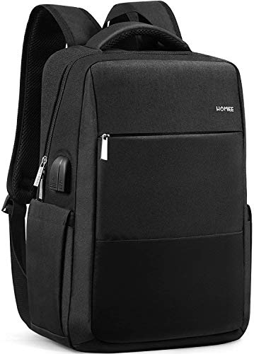 HOMIEE Laptop Backpack, 15.6 Inch Business Travel Rucksack with USB Port and Headphone Jack, 3 WAY Large Capacity Anti-theft Shockproof Breathable Multi-function Backpack for Boys/Girls/Men/Women