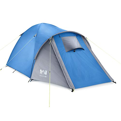 Bracken 2 3 4 Man Person Tent With Porch, Three Season, Waterproof 3000mm HH, Outdoor Garden Camping, Easy To Set Up, Lantern Hook, Storage Area