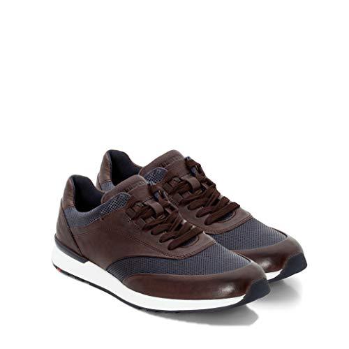 LLOYD Herren Arturo Sneaker, Braun (Ebony/Ocean 1), 44 EU