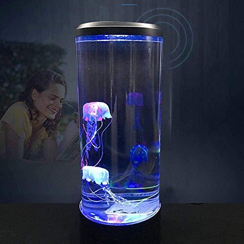Jeirifermtv Quallen Aquarium Licht USB Powered Jellyfish Mood Desk Nachttischlampe Fantasy Aquarium Hypnotische Farbwechsel LED Nachtlicht Home Decor Geschenk Licht