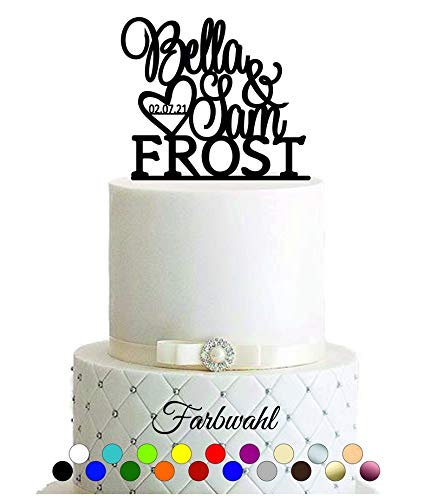 bruiloft, verloving, burgerlijke dag, trouwdag, hart, cake topper, taartsteker, opzetstuk, topper