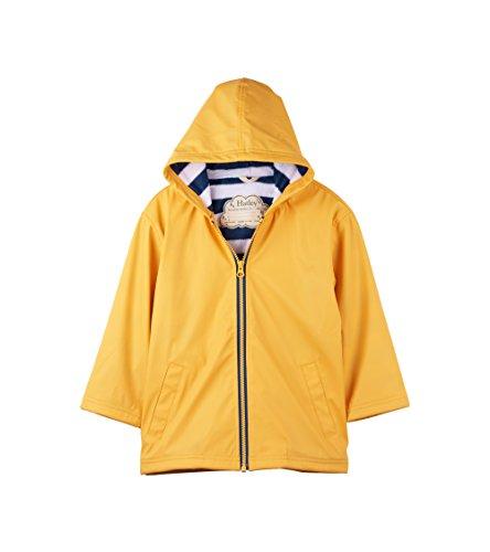 Hatley Splash Jackets Chaqueta para lluvia, Amarillo (clásico amarillo/azul marino), 7 años para Niños