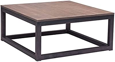 Zuo Civic Center Square Coffee Table, Distressed Natural