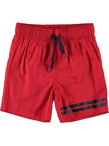 NAME IT Mini Jungen Badeshorts NMMZak, Größe:110, Farbe:high Risk red