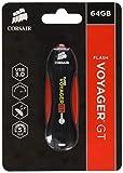 Corsair Voyager GT Unidad Flash USB 64 GB USB Tipo A 3.0 (3.1 Gen 1) Negro, Rojo - Memoria USB (64 GB, USB Tipo A, 3.0 (3.1 Gen 1), 390 MB/s, Tapa, Negro, Rojo)