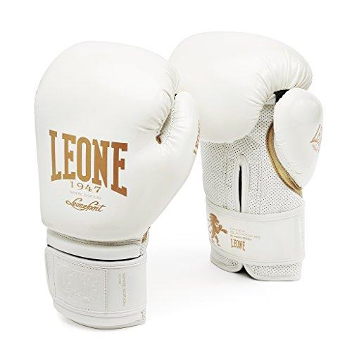 LEONE 1947 GN059 - Guantoni Boxe White Edition, Unisex – Adulto, Bianco, 12OZ