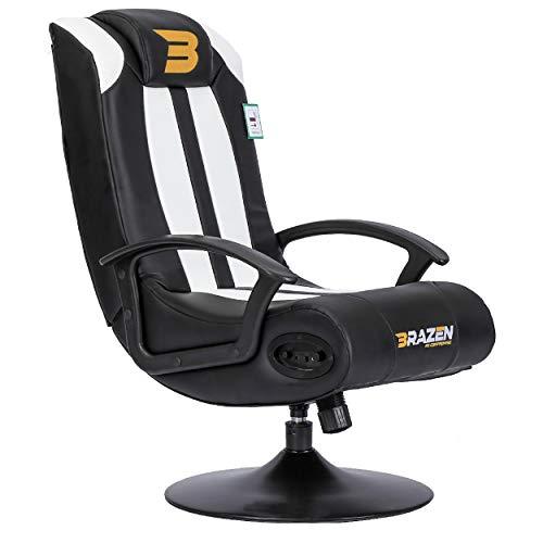 BraZen Stag 2.1 Bluetooth Surround Sound Gaming Chair - White