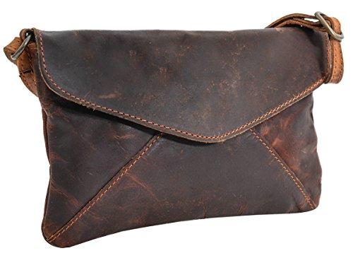 Gusti Umhängetasche Handtasche Ledertasche Vintage Braun Leder