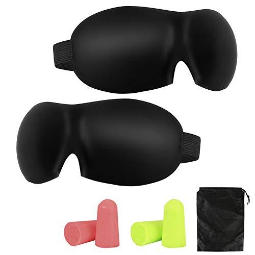 BIFY Schlafmaske 3D Damen und Herren,Premium Schlafbrille mit Innovativem verstecktem Nasenflügel-Design, Blockiert Licht 100% Augenmaske, verstellbare Premium Seiden Schaum Augenbinde