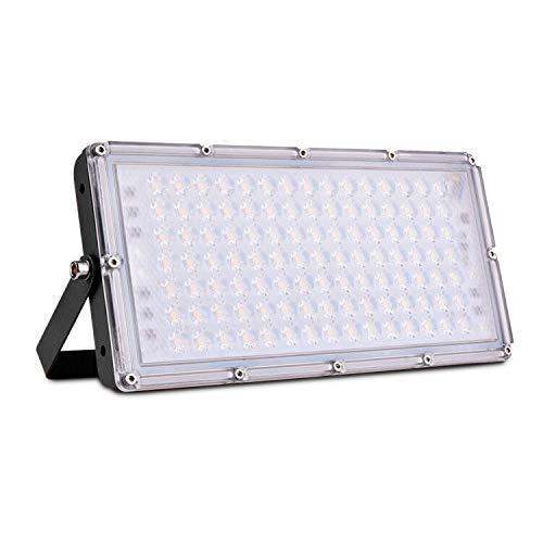 100W Proyector LED exterior IP65 Impermeable Foco exterior 10000 lumen 3000K Luz calida Foco LED Led Floodlight para jardín garaje Terrazas Iluminación [clase energética A ++]