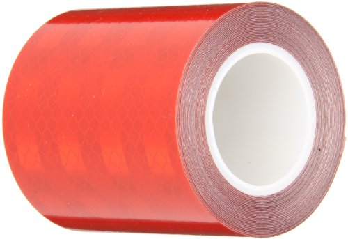 """3M 3432 Red Reflective Tape, 3"""" width x 5yd length (1 roll)"""