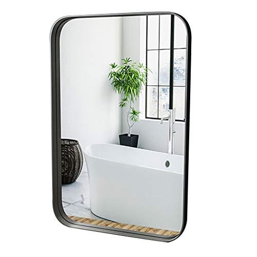 HYXI_Espejo Espejo Moderno de Pared Rectangular - Espejos Decorativos con Marco de Metal para Espejo Colgante de Pared - Rectángulo espejado cuelga Horizontal o Vertical, Dorado/Negro