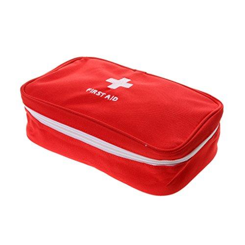 Sac Médical Trousses de Premier Secours Extérieur Case Urgence Traitement Soins Survie Kit Voyage Camping - Rouge, 23 x 13 x 7.5cm