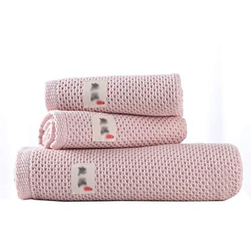 Toallas Baño Pack de 3 Toallas de Baño Toalla de Playa Resistente a la Decoloración Altamente Absorbente de Algodón Suave Toallas de Secado Rápido del Hotel Gimnasio Piscina Toalla Microfibra
