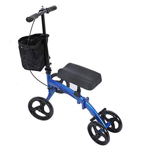 Knie Rollator mit Bremsen Lenkbare Alternative Medizinische Knie Scooter Lenkbarer Knie Walker Gehwagen für Senioren Behinderte Hochleistungskrücke Alternative für Fußverletzungen mit Korbbremssyste