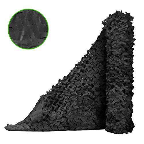 Red de Camuflaje de Una Sola Capa Negra,Camouflage Net de Cobertura de Montaña para Exteriores,Red de Sombra para Coche Patio Techo Jardín,Fácil de Cortar y Enlazar (3x5m/9.8x16.4ft)