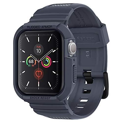 Spigen Rugged Armor Pro Compatible con Apple Watch Funda para 44mm Serie 5/ Serie 4 - Gris carbón