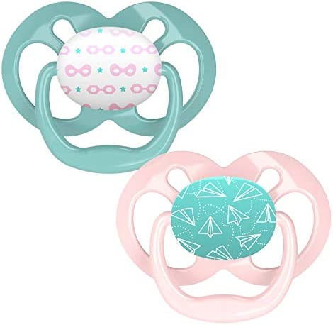 Dr Brown s Advantage Baby Pacifiers 6 18 Month Pink 2 Count product image