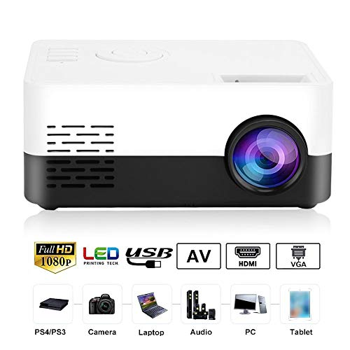 ASHATA Proyector portátil HD, Mini Home LED HD 1080P Proyector ...