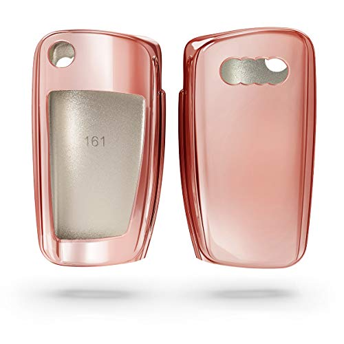 kwmobile Key Cover Compatible with Audi - Rose Gold High Gloss