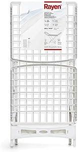 Rayen Sistema de Bloqueo de Patas y Anti Deslizante | Varillas XXL Ropa para Interior y Exterior | 20 m de Superficie de tendido | Tendedero de Resina, Blanco, Dimensiones: 173 x 53 x 113 cm