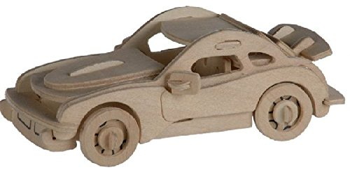 Out of the blue - Puzzle Bois 3D Voiture P-911 – 4 x 15 cm