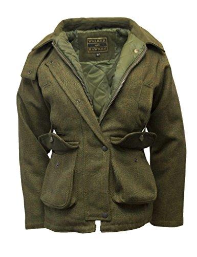 Walker and Hawkes Damen Country-Jacke aus Tweed - für die Jagd geeignet - Dunkles Salbeigrün - Größen 34 bis 50