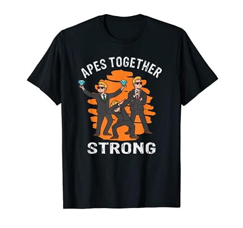 Simios juntos fuerte un divertido consejo para los comerciantes de Stonks Camiseta