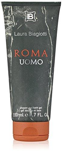 Laura Biagiotti Roma Uomo homme/ man, Duschgel, 1er Pack, (1x 200 ml)