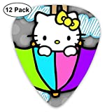 CHLING Umbrella Hello Kitty Guitar Picks, 12 Pack Unique Designs Guitar Pick for Guitar Bass